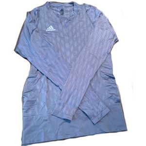 Adidas long sleeve v-neck tee